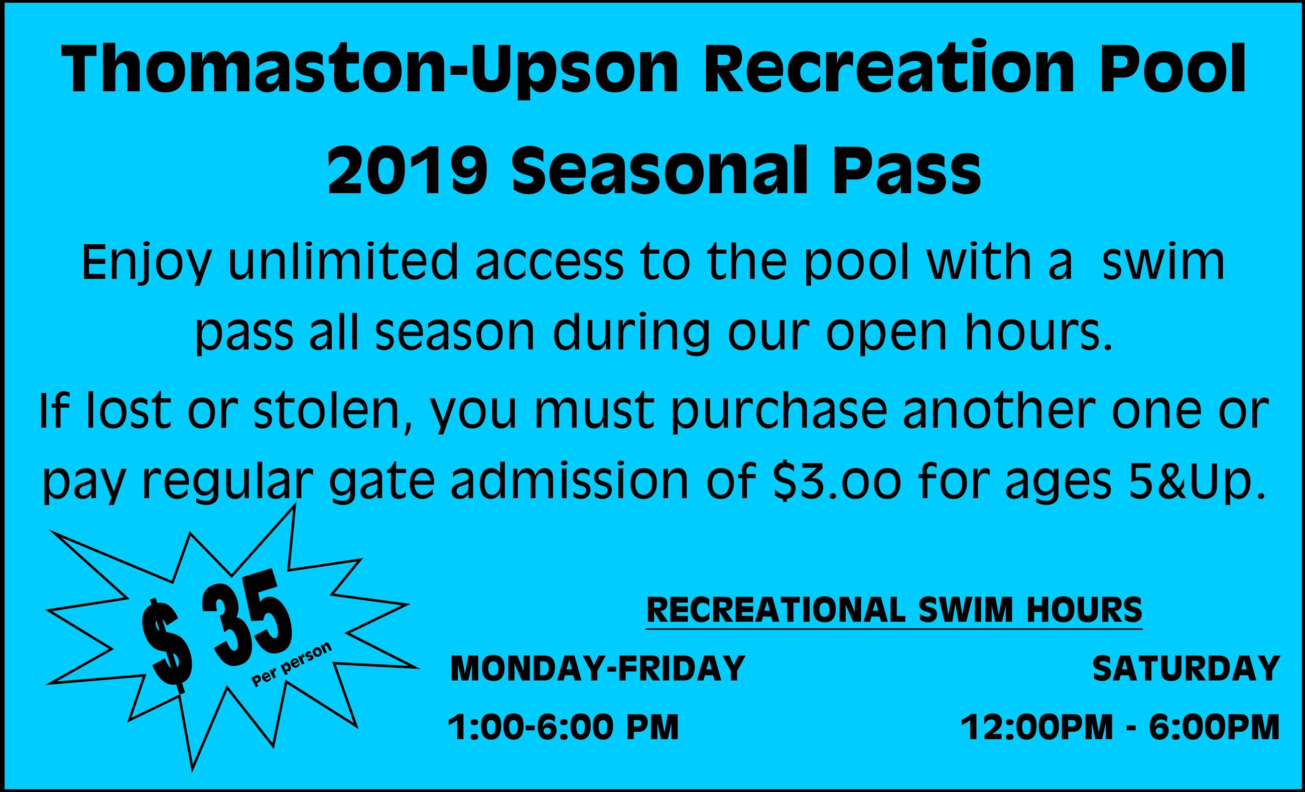 annual pass flyer